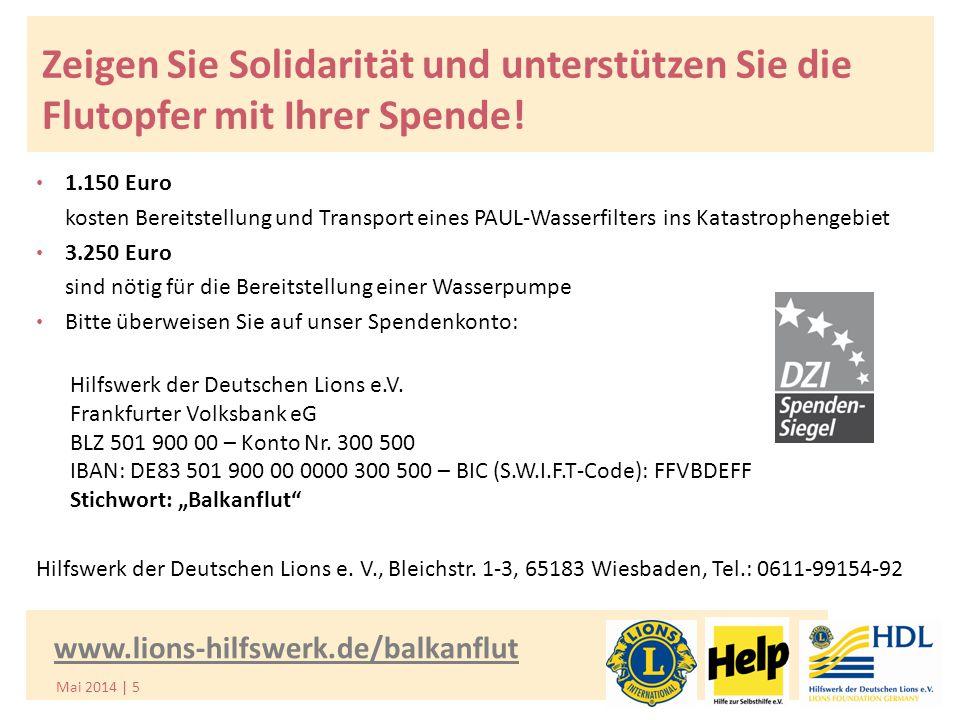 Zeigen Sie Solidarität und unterstützen Sie die Flutopfer mit Ihrer Spende.