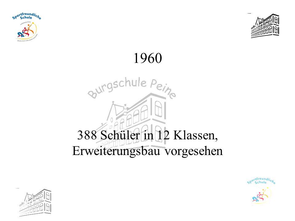 1960 388 Schüler in 12 Klassen, Erweiterungsbau vorgesehen