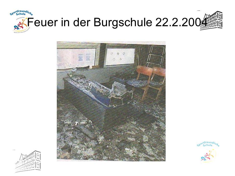 Feuer in der Burgschule 22.2.2004