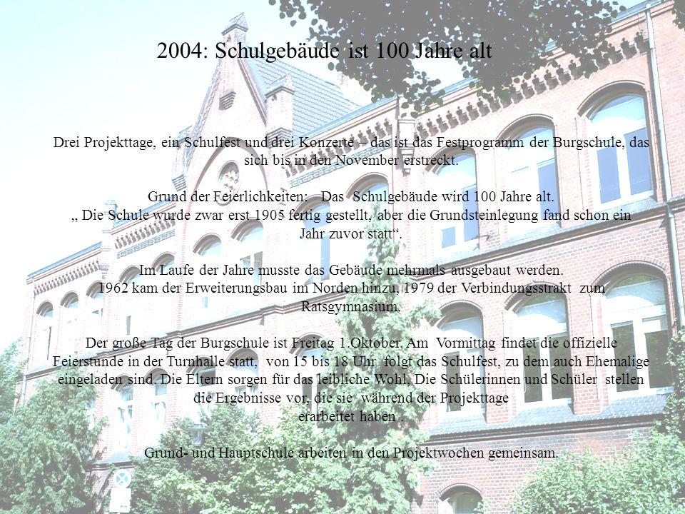 Drei Projekttage, ein Schulfest und drei Konzerte – das ist das Festprogramm der Burgschule, das sich bis in den November erstreckt. Grund der Feierli