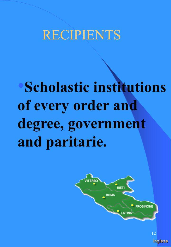11 Spagnolo DESTINATARIOS Instituciones escolares de cada orden y grado, estatales y paritarias.
