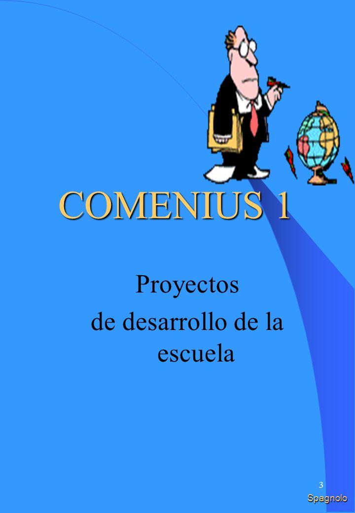 3 Spagnolo COMENIUS 1 Proyectos de desarrollo de la escuela