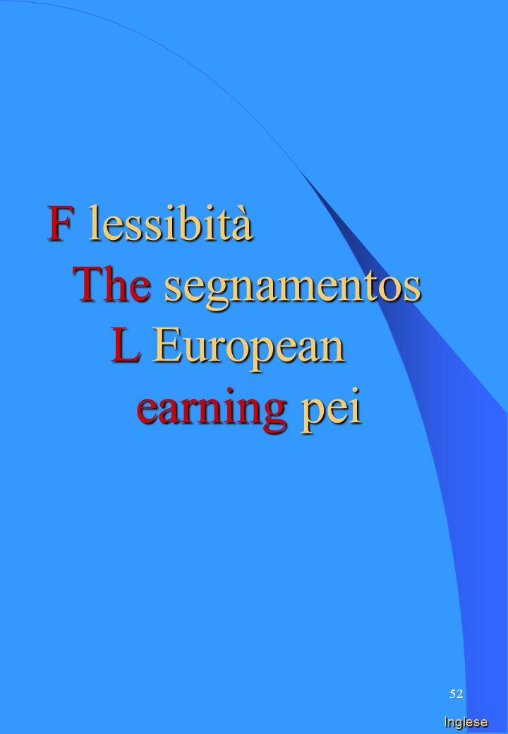 51 Spagnolo F lessibità LOS segnamento L earning EURO pei
