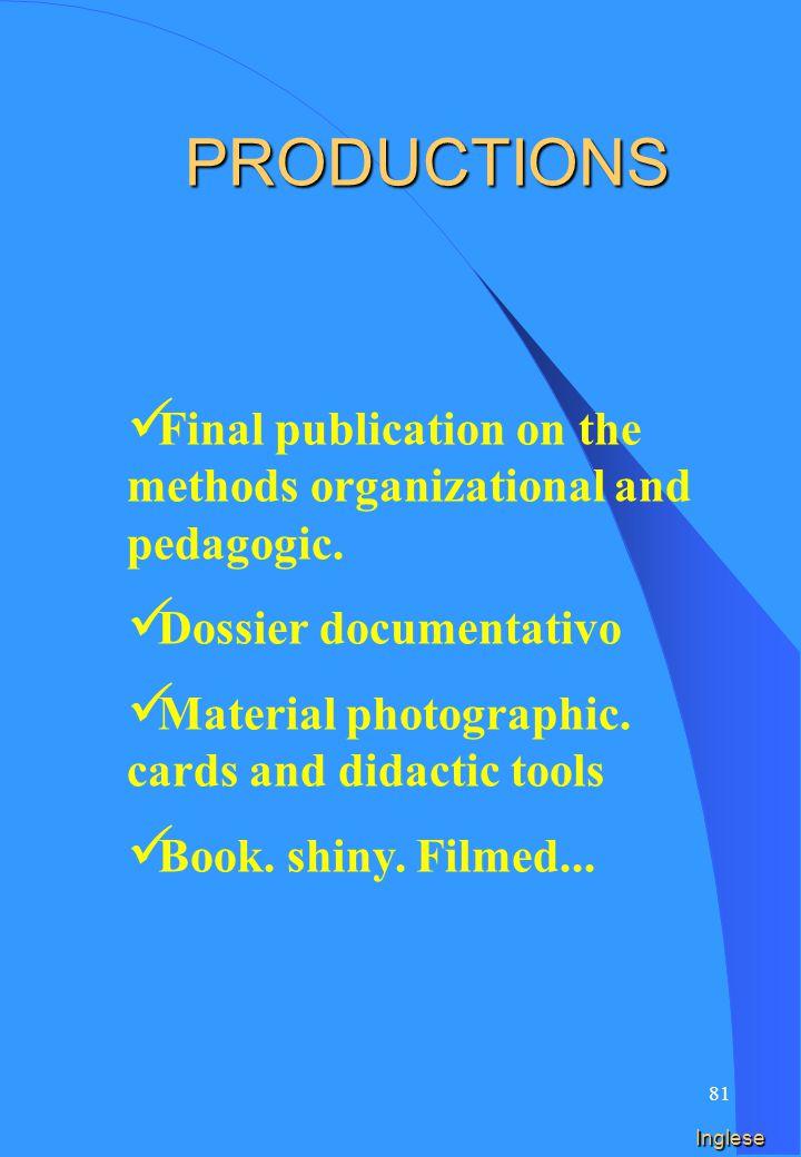 80 Spagnolo PRODUCCIONES Publicación final sobre los métodos organizativos y pedagógicos.