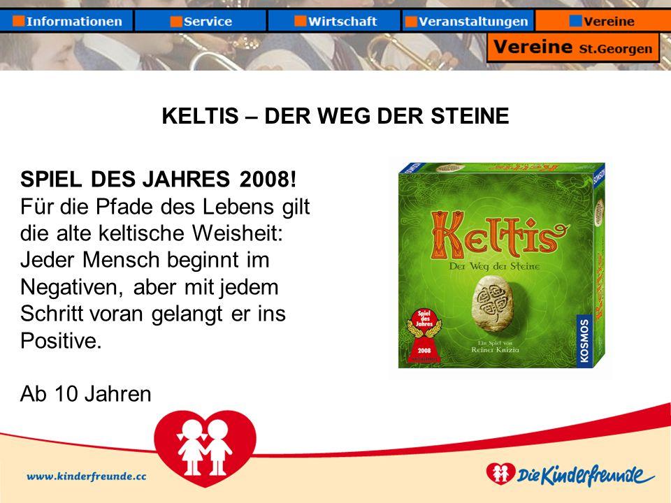 KELTIS – DER WEG DER STEINE SPIEL DES JAHRES 2008.