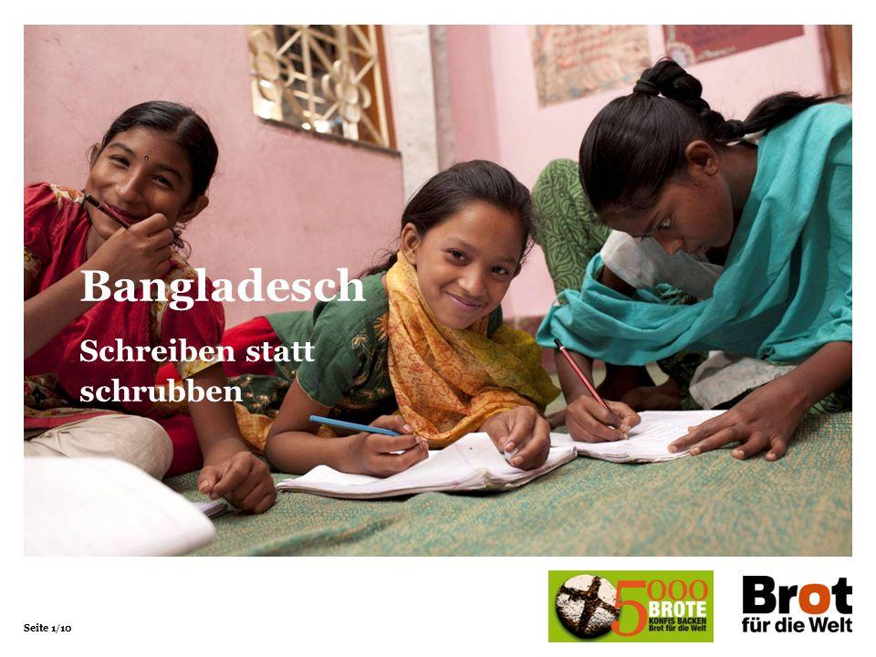 Seite 1/10 Bangladesch Schreiben statt schrubben
