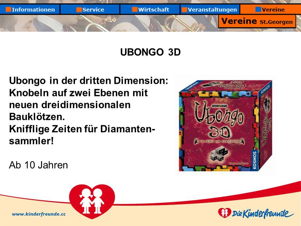 UBONGO 3D Ubongo in der dritten Dimension: Knobeln auf zwei Ebenen mit neuen dreidimensionalen Bauklötzen.