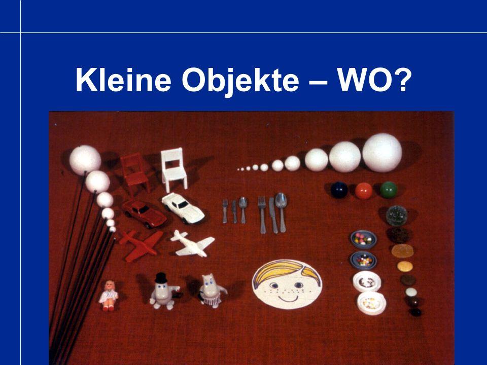 Kleine Objekte – WO?
