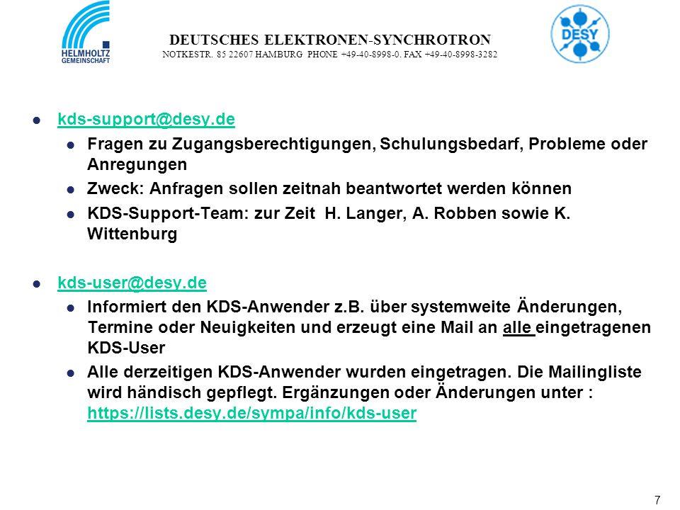 7 7 DEUTSCHES ELEKTRONEN-SYNCHROTRON NOTKESTR. 85 22607 HAMBURG PHONE +49-40-8998-0.