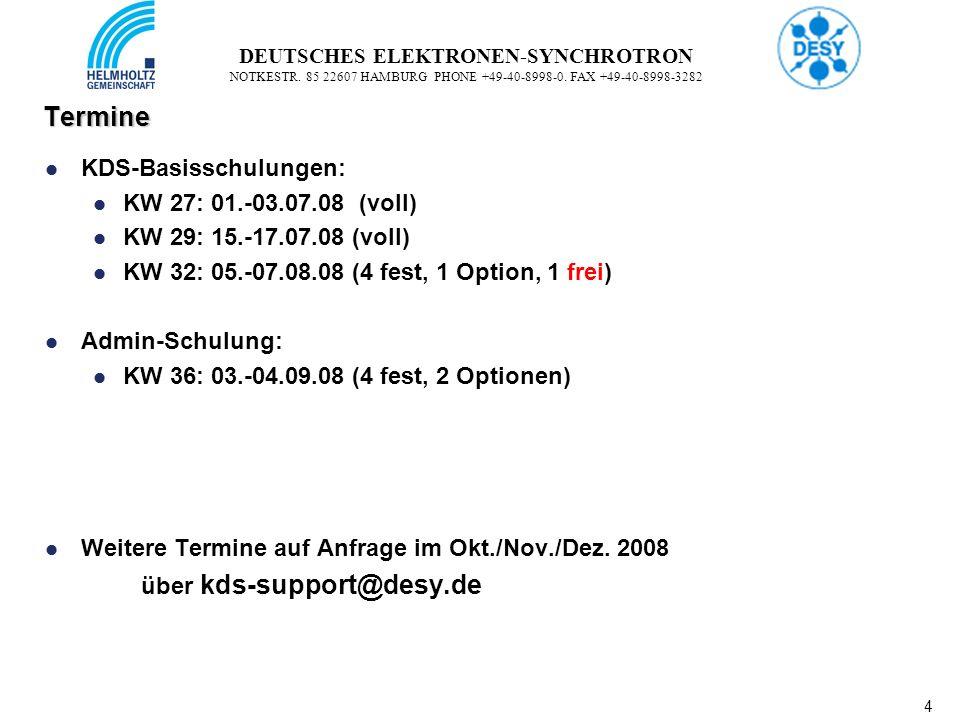 4 4 DEUTSCHES ELEKTRONEN-SYNCHROTRON NOTKESTR. 85 22607 HAMBURG PHONE +49-40-8998-0.