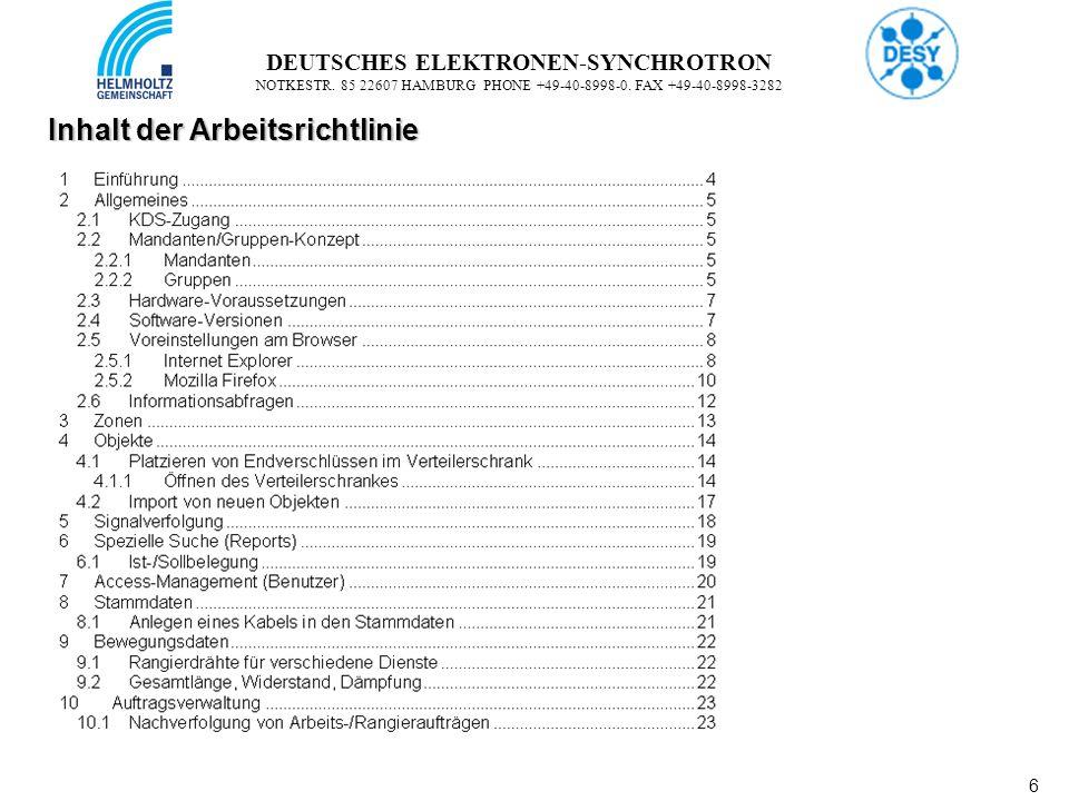 7 7 DEUTSCHES ELEKTRONEN-SYNCHROTRON NOTKESTR.85 22607 HAMBURG PHONE +49-40-8998-0.