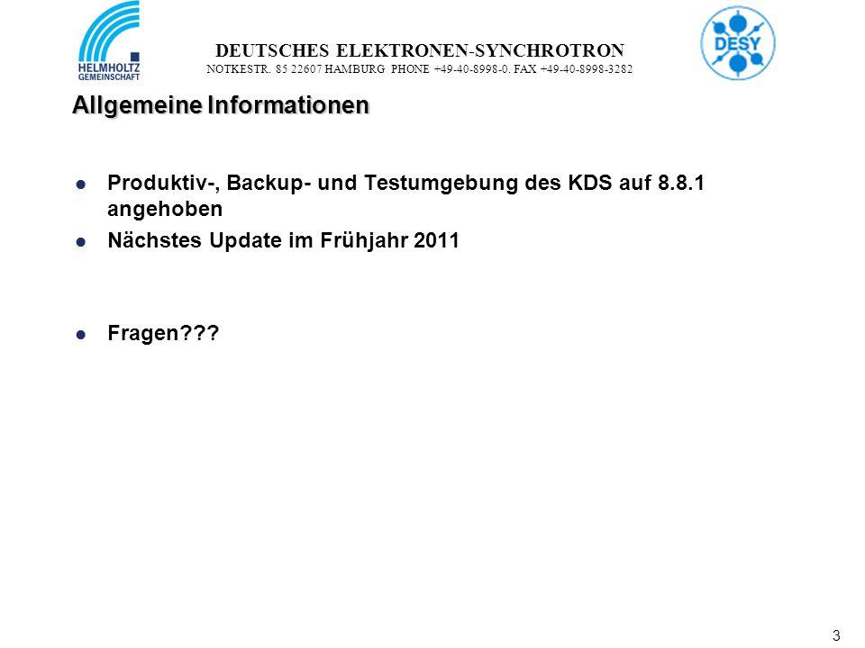 3 3 DEUTSCHES ELEKTRONEN-SYNCHROTRON NOTKESTR. 85 22607 HAMBURG PHONE +49-40-8998-0.