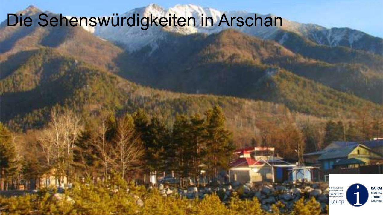 Datsan in Arschan Eine kleine buddhistische Tempel.