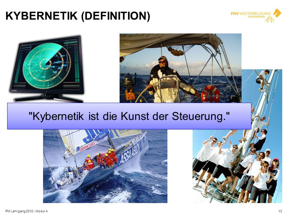 KYBERNETIK (DEFINITION) PM Lehrgang 2010 - Modul 413