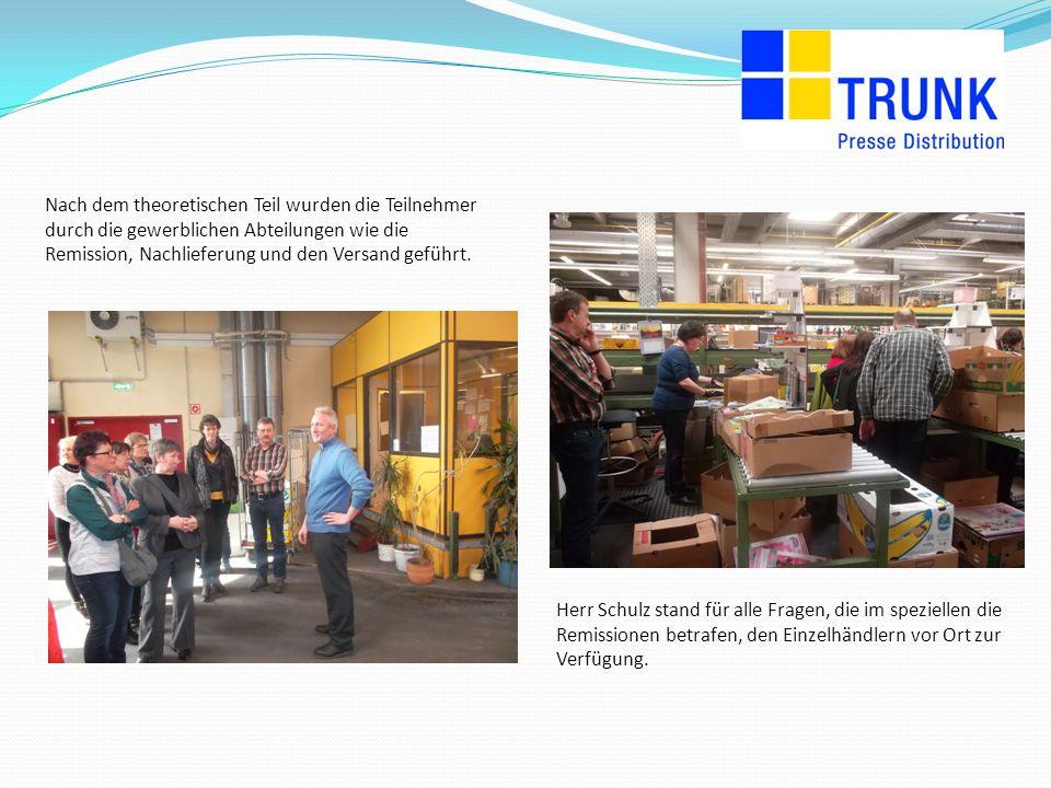 Um den Kunden einen weiteren Eindruck zu vermitteln, wie die Pakete für sie zusammengestellt werden, wurden sie auch durch unseren Versand geführt.
