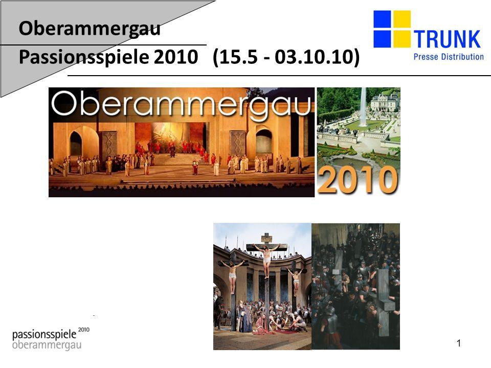 2 Die Oberammergauer Passionsspiele sind das weltweit bekannteste Passionsspiel.