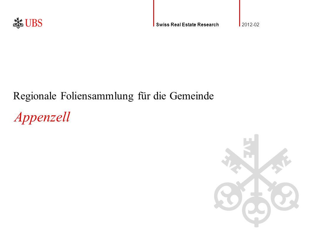 Regionale Foliensammlung für die Gemeinde Swiss Real Estate Research2012-02 Appenzell