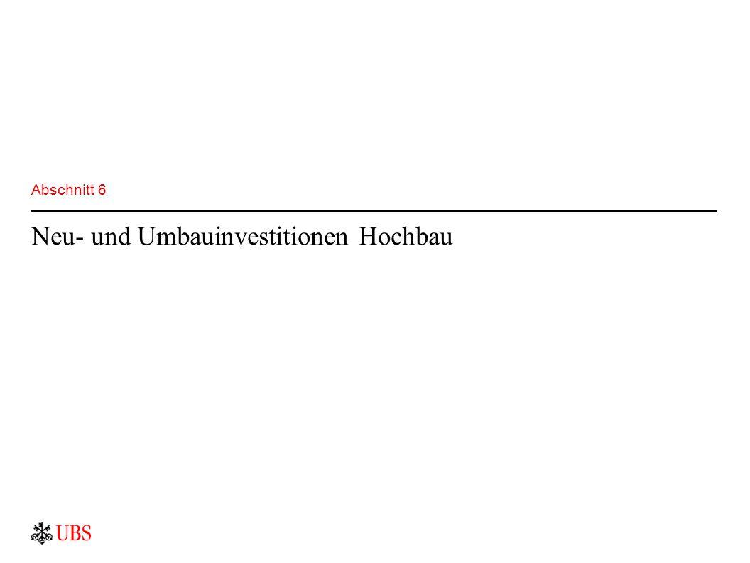 Abschnitt 6 Neu- und Umbauinvestitionen Hochbau