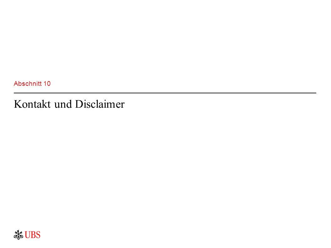 Abschnitt 10 Kontakt und Disclaimer