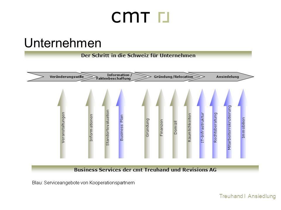 Veränderungswille Information / Faktenbeschaffung Gründung/Relocation Ansiedelung IT-Infrastruktur Blau: Serviceangebote von Kooperationspartnern Grün