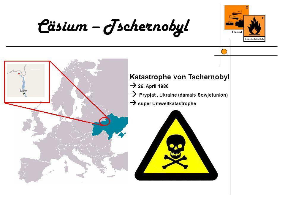 Katastrophe von Tschernobyl 26. April 1986 Prypjat, Ukraine (damals Sowjetunion) super Umweltkatastrophe Cäsium – Tschernobyl