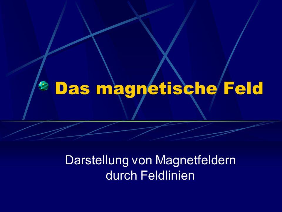 Magnetfeld Das Magnetfeld ist ein Raum um Magneten, in dem Kraftwirkungen auftreten Auf ferromagnetische Stoffe (Eisen, Kobalt, Nickel) Anziehung Auf andere Magneten Anziehung oder Abstoßung