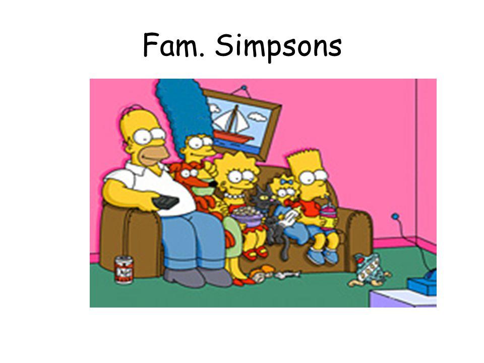 Homer Simpson Homer Simpson ist das Familienoberhaupt.