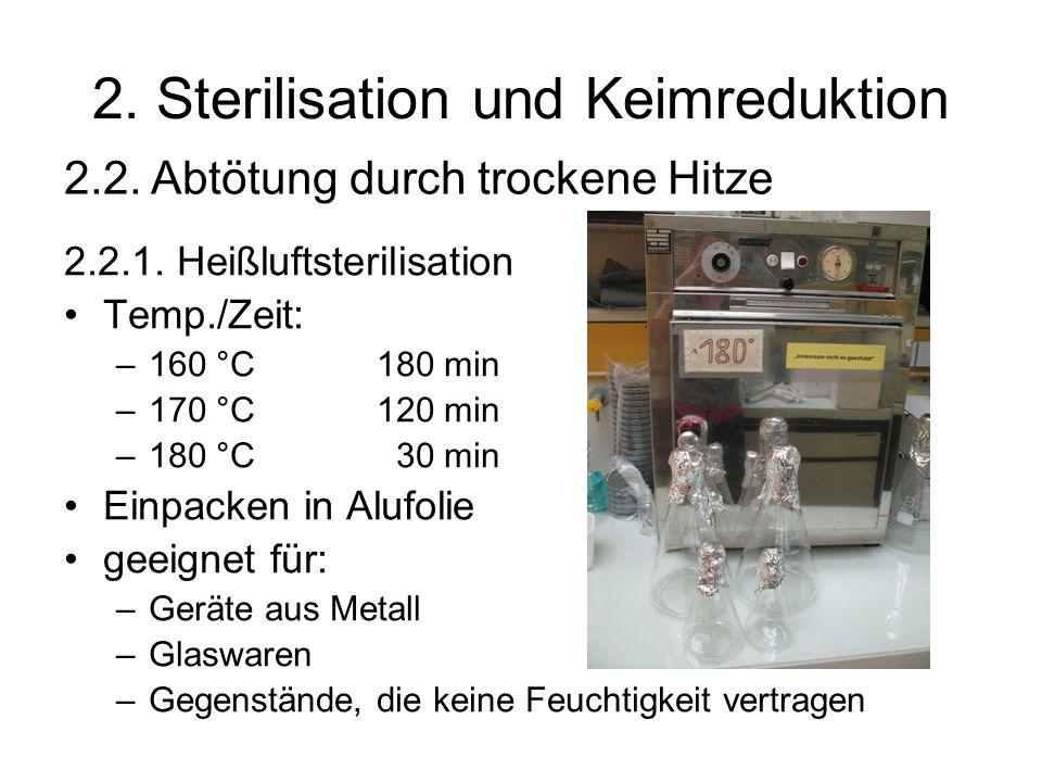 2.Sterilisation und Keimreduktion 2.2.1.