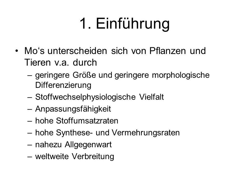 1.Einführung Mos unterscheiden sich von Pflanzen und Tieren v.a.