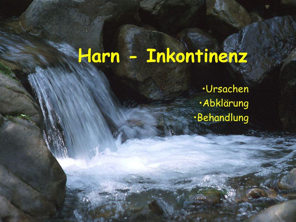 Harn - Inkontinenz Ursachen Abklärung Behandlung