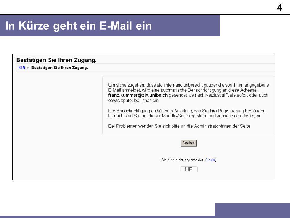 5 Bestätigungs-E-Mail / Link anklicken