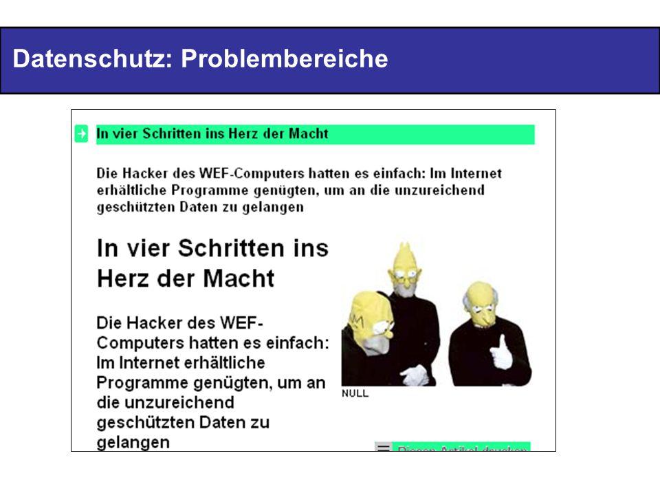 Datenschutz: Problembereiche