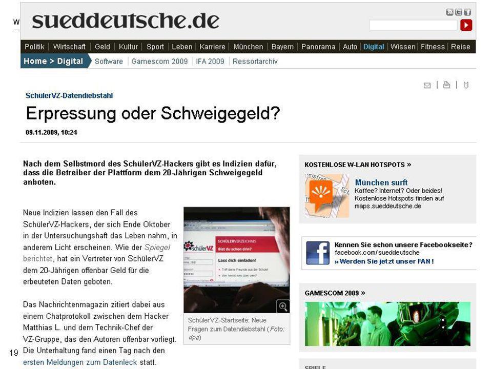 2009 Golemis/Reismann WEB 2.0 19