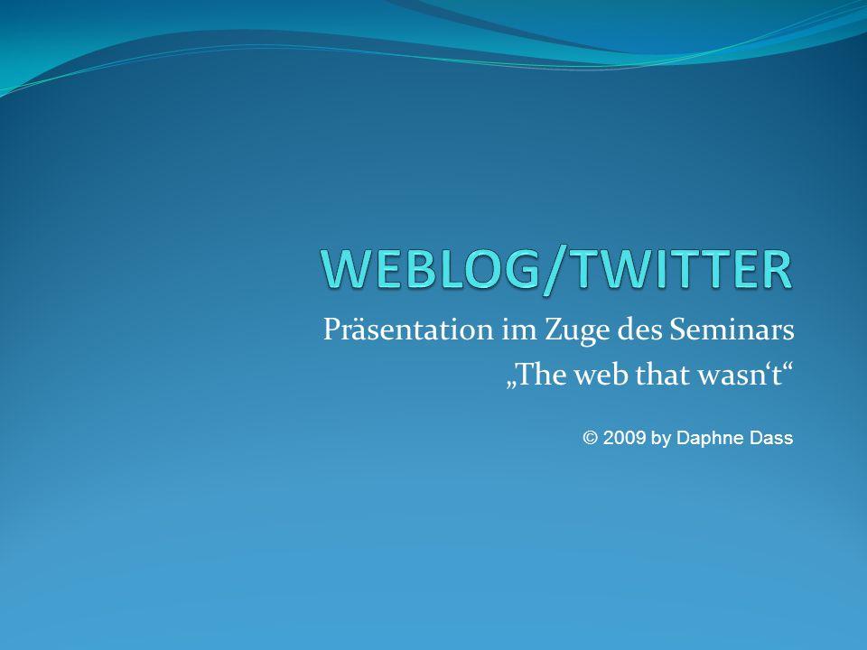 Was bedeutet Weblog.