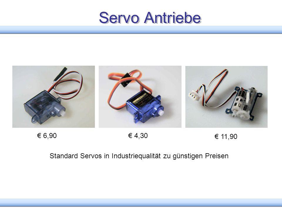 Servo Antriebe Standard Servos in Industriequalität zu günstigen Preisen 11,90 6,90 4,30