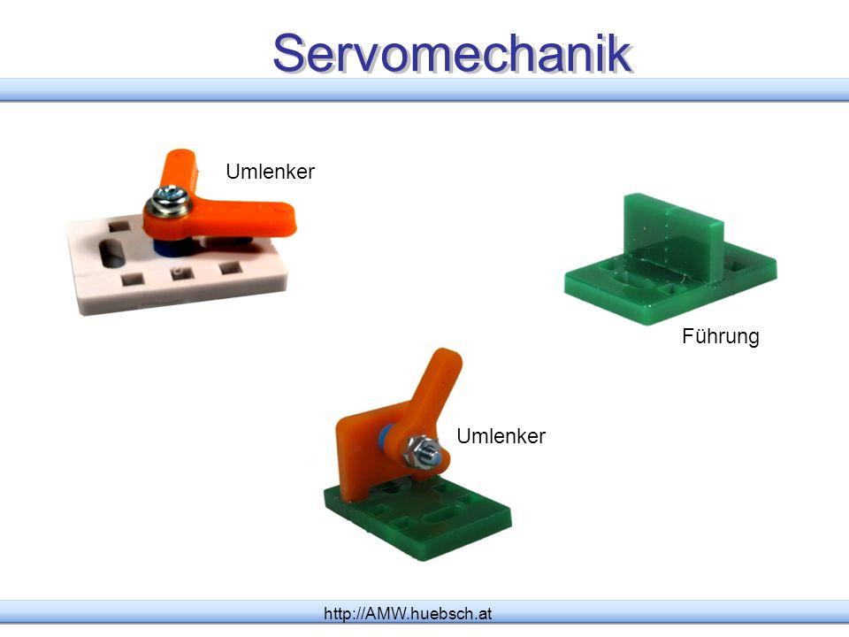 Servomechanik http://AMW.huebsch.at Umlenker Führung