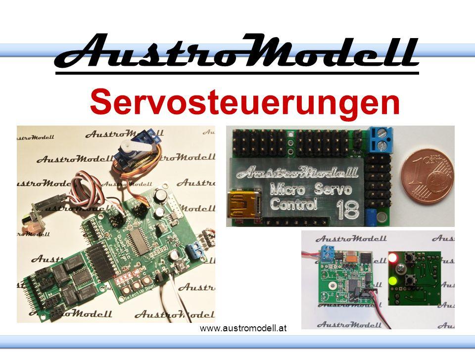 5V Versorgung http://AMW.huebsch.at kleiner Formfaktor inklusive Kühlung Temperatur und Überstromschutz Servo Stecker Abschalten über einen Sensoreingang gegen Masse Servo Stecker