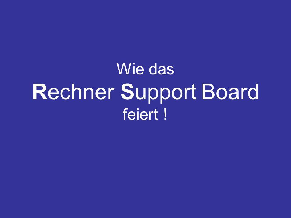 Der Anlass Aus aktuellem Anlass waren alle User des RS-Boardes zur einer spontanen Boardparty geladen worden.