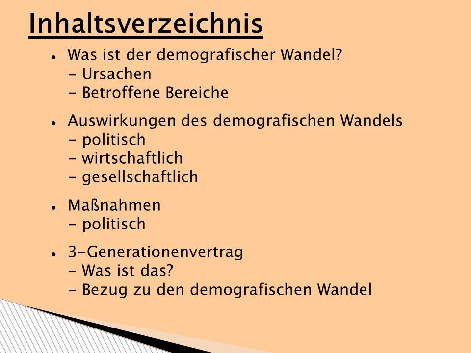 Deutschland wird immer älter Demographische Wandel Bevölkerungsrückgang in Deutschland Was ist der demografische Wandel.