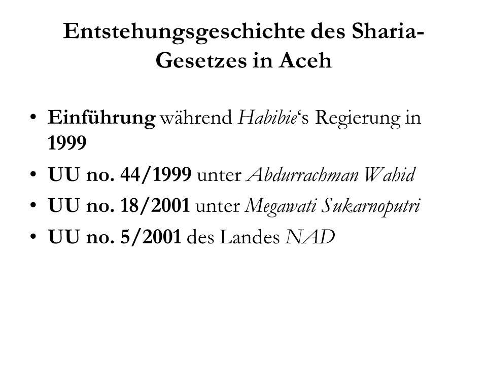 Erfahrungen der Frauen mit der Umsetzung des Sharia-Gesetzes in Aceh Sri Tunruang Eine Welt Forum Aachen e.