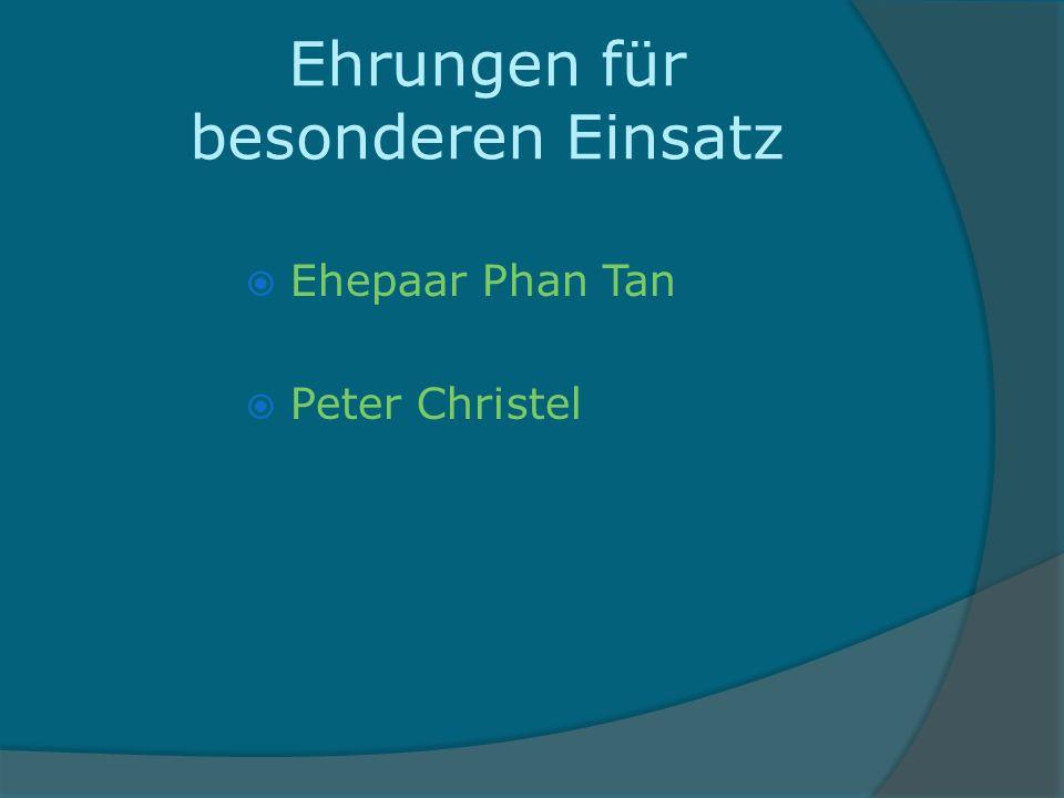 Ehrungen für besonderen Einsatz Ehepaar Phan Tan Peter Christel