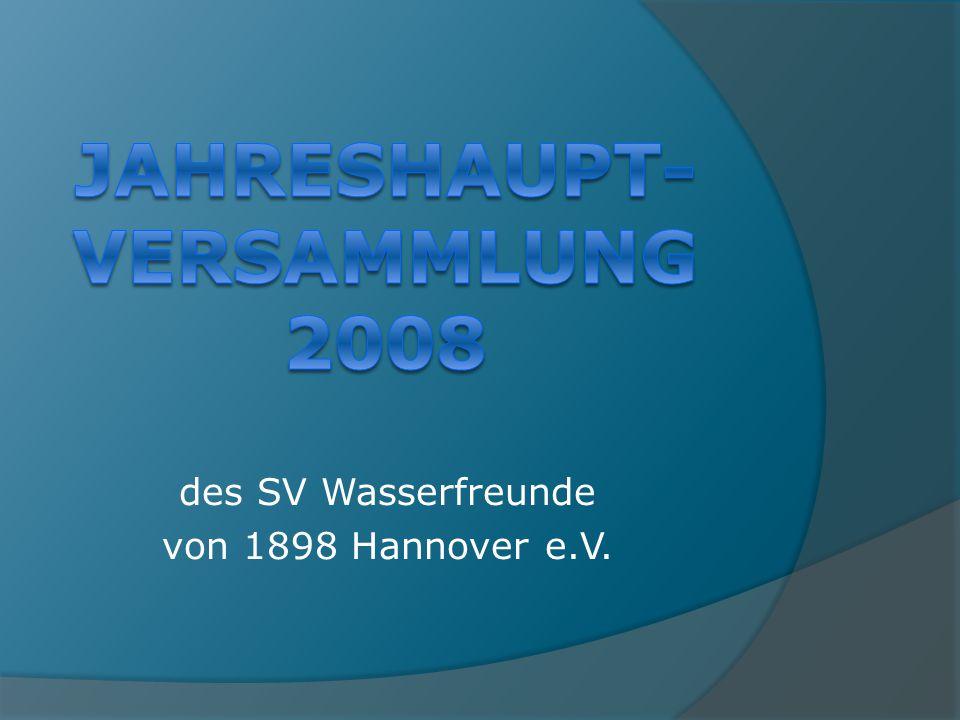 des SV Wasserfreunde von 1898 Hannover e.V.