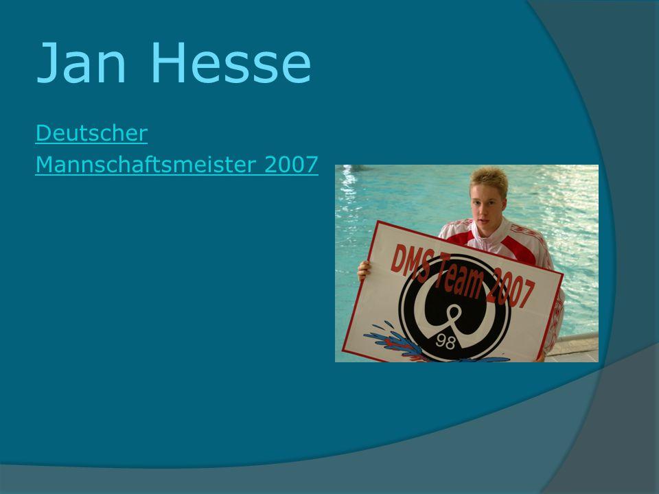 Jan Hesse Deutscher Mannschaftsmeister 2007