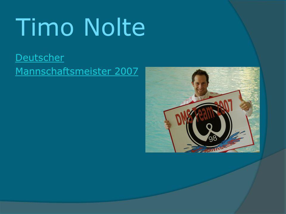 Timo Nolte Deutscher Mannschaftsmeister 2007