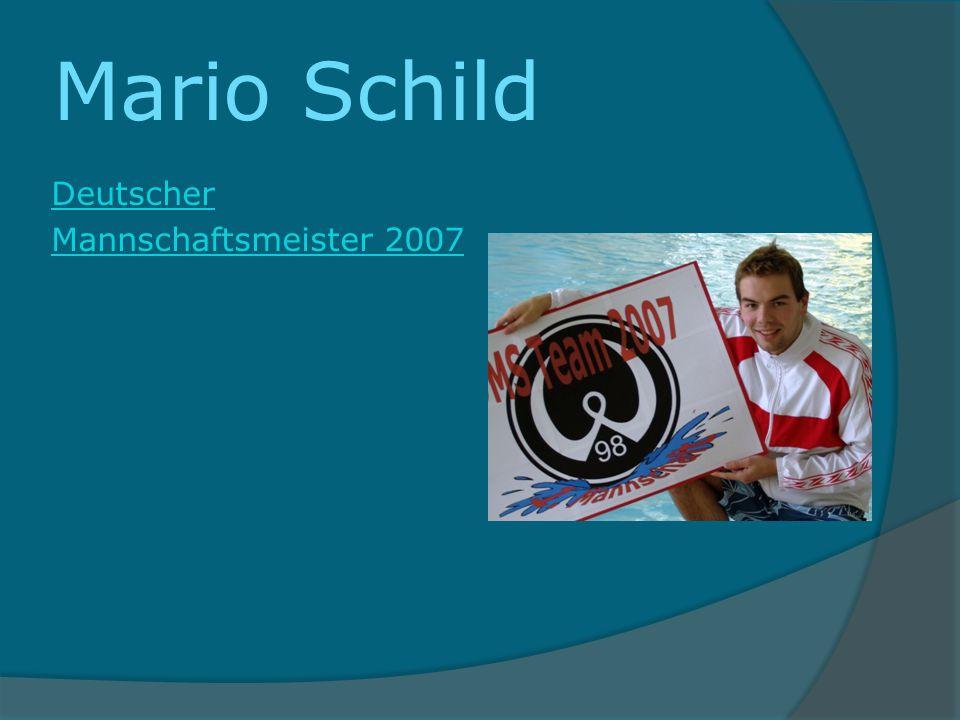 Mario Schild Deutscher Mannschaftsmeister 2007