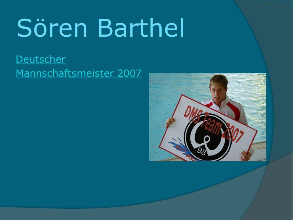 Sören Barthel Deutscher Mannschaftsmeister 2007