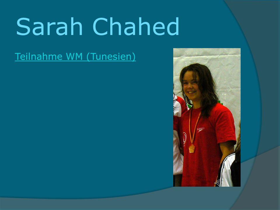 Sarah Chahed Teilnahme WM (Tunesien)