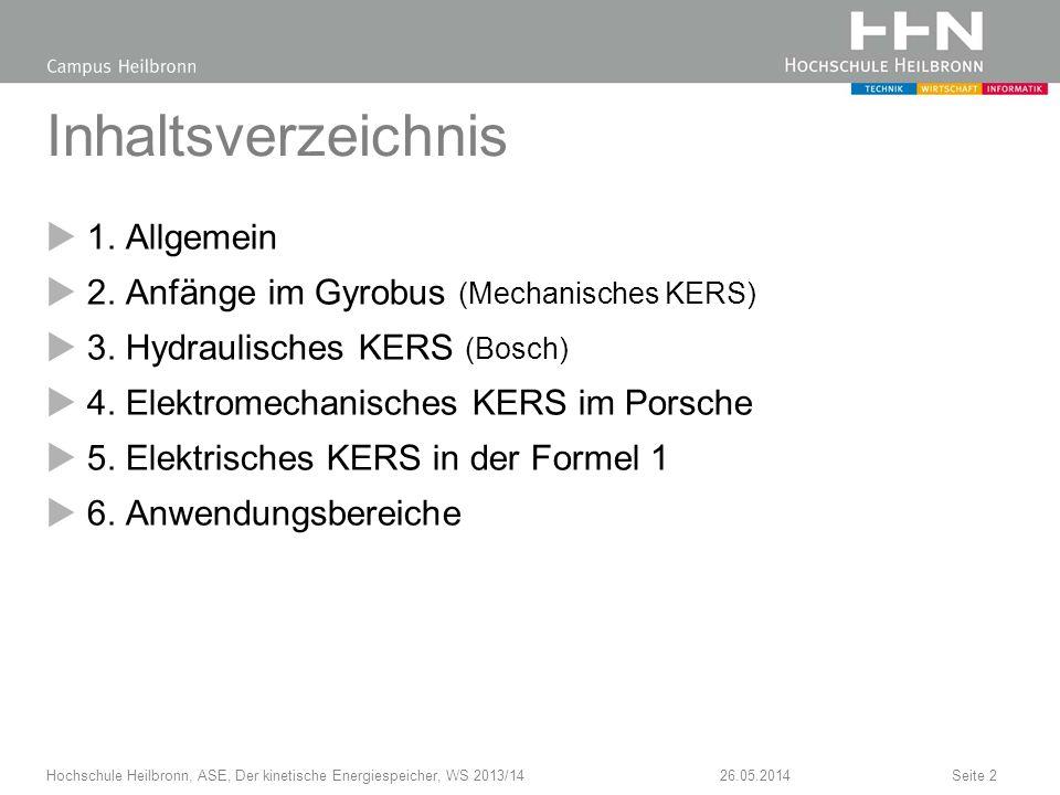 Inhaltsverzeichnis 1.Allgemein 2. Anfänge im Gyrobus (Mechanisches KERS) 3.