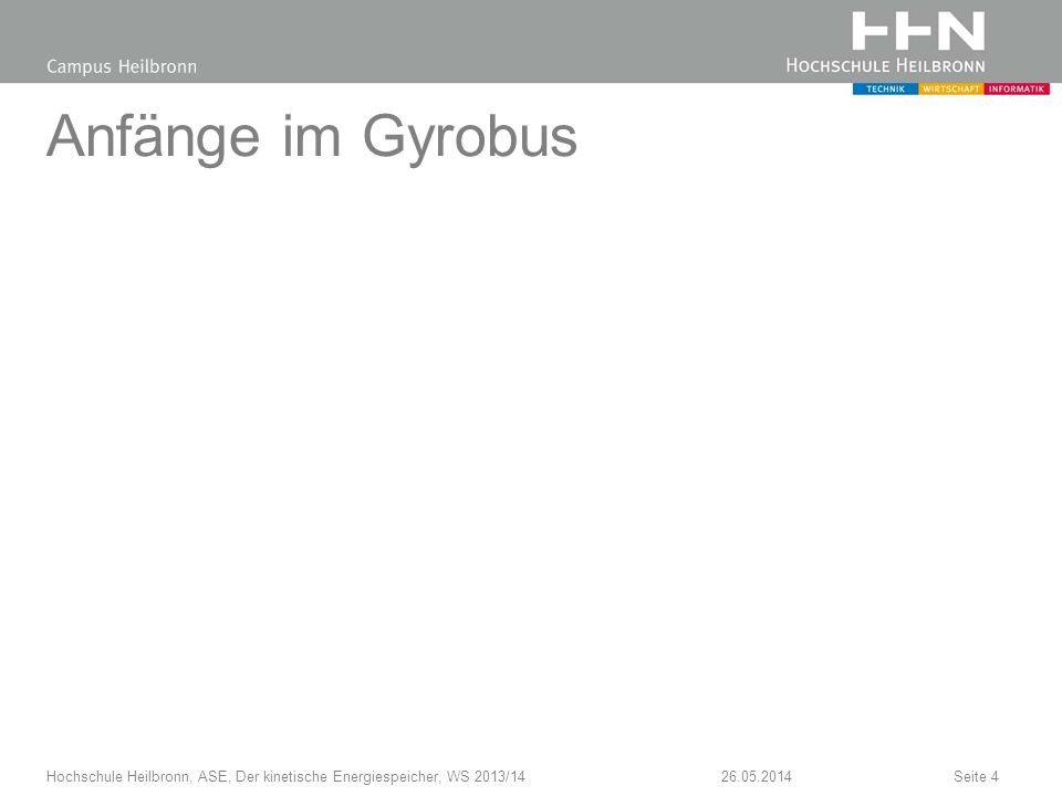 Hydraulisches KERS 26.05.2014Hochschule Heilbronn, ASE, Der kinetische Energiespeicher, WS 2013/14Seite 5