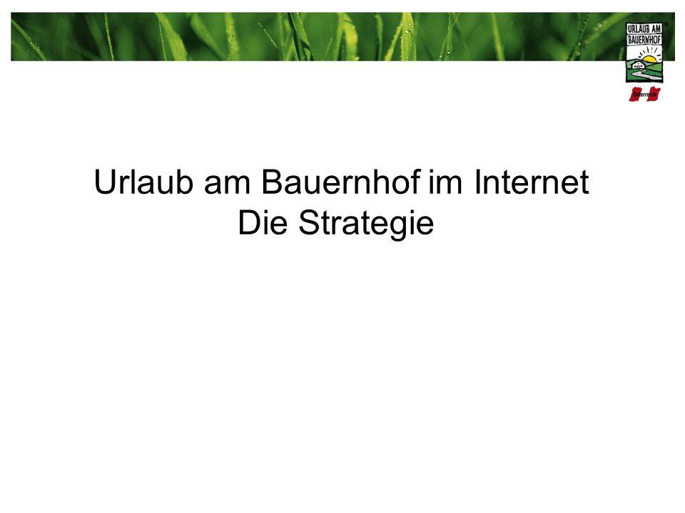Urlaub am Bauernhof im Internet Die Strategie